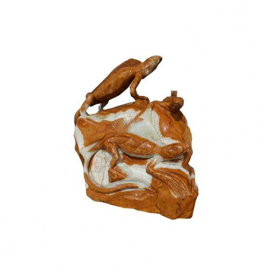 Iguana de marmol/onix grande