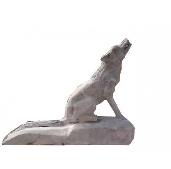 Escultura de Marmol -Lobo Blanco