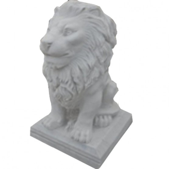 Marble Lion Sitting