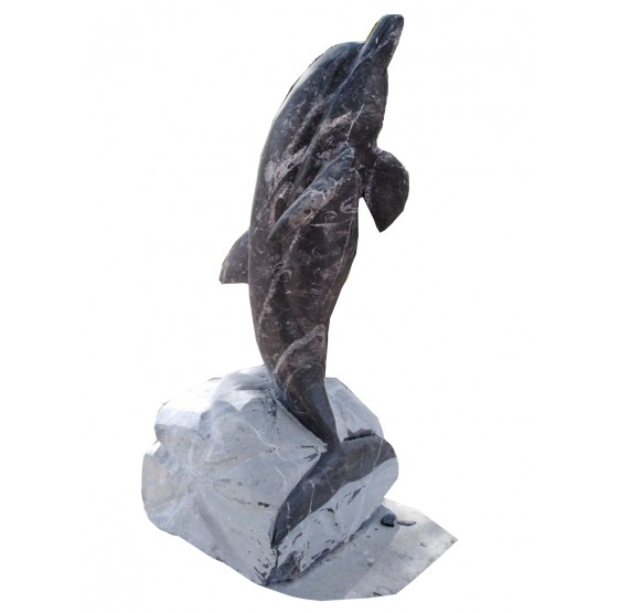 Marble Dolphin 15.7 Inches